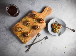 these hoisin glazed cocktail meatballs are hoi sinfully delicious