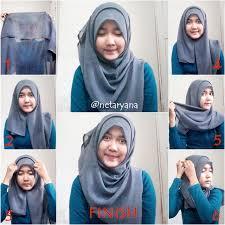 simple hijab styles tutorial segi empat tutorial cara memakai jilbab paris simple