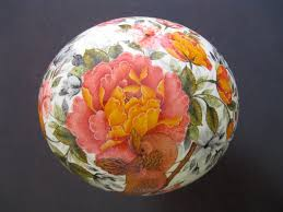 painted ostrich egg firouzeh makari painted ostrich egg