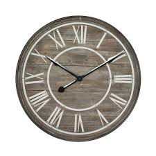 oversized home decor yosemite home decor rustic age distressed brown oversized wall clock