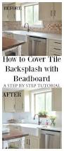 how to tile a kitchen backsplash how to cover tile backsplash with beadboard