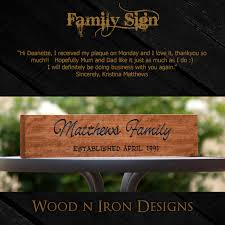 wedding gift australia personalised tasmanian oak family sign for a wedding gift
