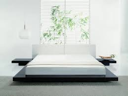 King Size Platform Bed Plans Drawers by Modern Floating Platform Bed On Black Wooden Bunk All White