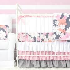 Pink Floral Crib Bedding S Pink Gray Floral Crib Bedding Caden