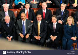 Cabinet President Republican Senators And Cabinet Officials Listen As United States