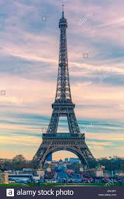 Beautiful Eiffel Tower by Eiffel Tower La Tour Eiffel At Winter Suset In Paris France