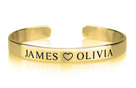 Personalized Cuff Bracelet Personalized Name Rose Gold Plated Engraved Cuff Bracelet U2013 Rugged