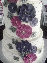 wedding cake daily made fresh daily pink and purple floral wedding cake