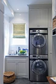 Countertop Clothes Dryer Stacked Washer Dryer Laundry Room Modern With Vinyl Stone And