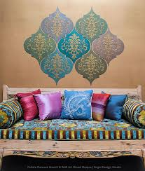 painting stencils for wall art wall art pinterest diy stenciled walls gold decor tierra este