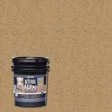 rust oleum restore 1 gal 10x advanced sandstone deck and concrete