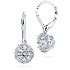 white gold drop earrings brilliant 1 62 ctw vs2 clarity i color diamond 18kt white