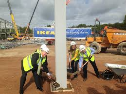 ikea construction officially begins newbury weekly news