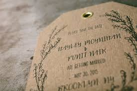 cotton resume paper erica henriksen boxcar press letterpress die cut save the date tag with gold grommets designed by kristin
