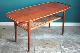 scandinavian teak coffee table with magazine rack 1960s for sale