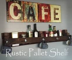 rustic pallet shelf with scrap wood 3 steps with pictures