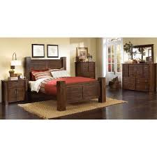 Dark Pine Piece King Bedroom Set Trestlewood RC Willey - Rc willey black bedroom set