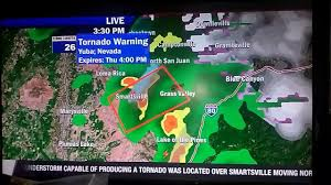 World Map Of Tornadoes by Fox 40 News Ktxl Breaking News Tornado Warning For Grass Valley