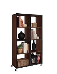 Tall Narrow Bookcases by Furniture Modern Black Solid Wood Tall Narrow Open Booksshelf