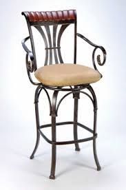Bar Stool With Arms And Back Wood Swivel Bar Stools With Arms Foter