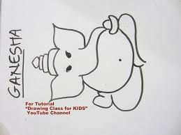 how to draw easy lord ganpati ganesha step by step tutorial for