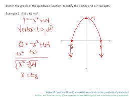 essential question how do you sketch graphs and write equations
