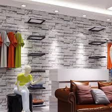 modern vintage 3d stone wall paper 3d brick wallpapers design