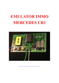 mercedes benz cr1 immo emulator user manual
