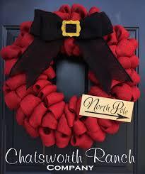 santa belt ribbon santa belt buckle burlap wreath christmas by chatsworthranchco