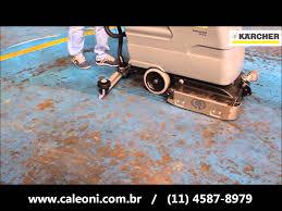 lavadora e secadora de piso karcher br530 bateria youtube