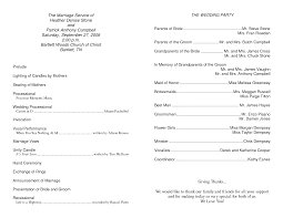 wedding church program templates best photos of template of installation service programs pastor