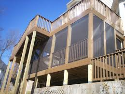 two story deck in st louis deck design decking and cedar deck