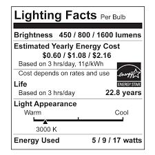led bulb in 3 way l a21 led bulb 17 watt dimmable 100w equiv 1600 lumens by euri