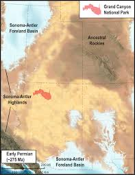Grand Canyon Map Usa by Sedimentary Rock Formations Of The Grand Canyon U2013 In The