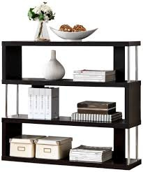 amazon com baxton studio barnes 3 shelf modern bookcase dark