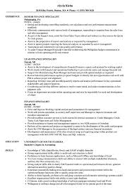 resume template for senior accountant duties ach drafts finance specialist resume sles velvet jobs