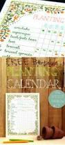 Vegetable Garden Planting Calendar by Free Printable Planting Calendar A Piece Of Rainbow