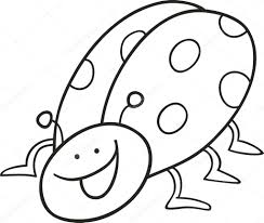 funny ladybug for coloring book u2014 stock vector izakowski 4531636