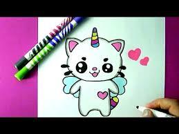 comment dessiner un chat licorne kawaii dessin facile youtube