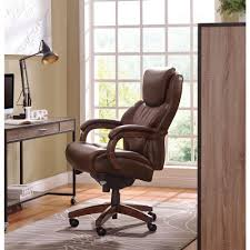 brown leather executive desk chair la z boy delano chestnut brown bonded leather executive office chair