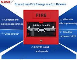break glass door release break glass emergency door release button for fire alarm system