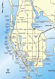 Pinellas Trail Map Map Of Pinellas County Florida Avenue Of The Giants Map