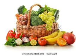 fruit and vegetable basket fruit and vegetable basket stock images royalty free images