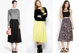runway your way how to wear spring u0027s tea length skirts
