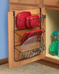 kitchen cabinet door organizer amazon com spectrum diversified lid holder storage organizer