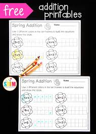 free spring ten frame addition sheets great visual for teaching