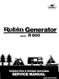 subaru robin power products r600 robin generator service manual