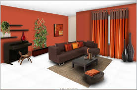 orange wall paint color schemes living room with grey including