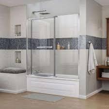 58 Inch Bathtub Shower Combo Pivot Bathtub Doors Bathtubs The Home Depot