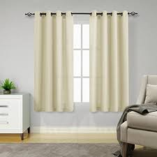 Amazon Com Semi Sheer Curtains For Living Room 63 Inches Long